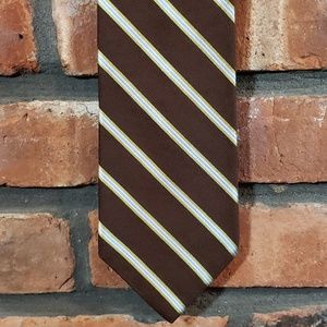 Brooks Brothers Makers 100% Silk Striped Tie